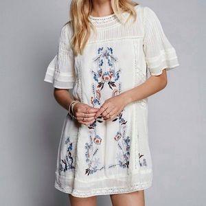 Free People Perfectly Victorian Boho Mini Dress